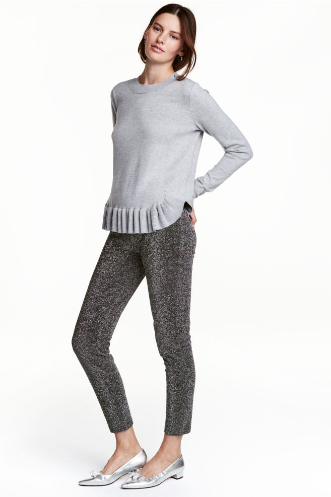 ff1baf43b983b Glittery leggings - Black/Silver - Ladies | H&M ...