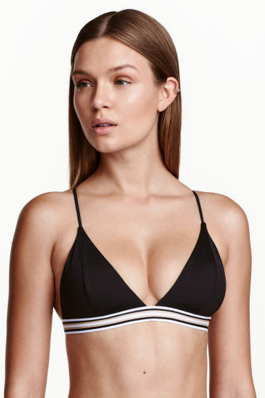 Triangle bikini top - Black - Ladies | H&M CN