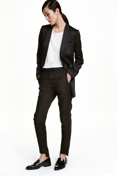 Tuxedo trousers - Black - Ladies | H&M IE