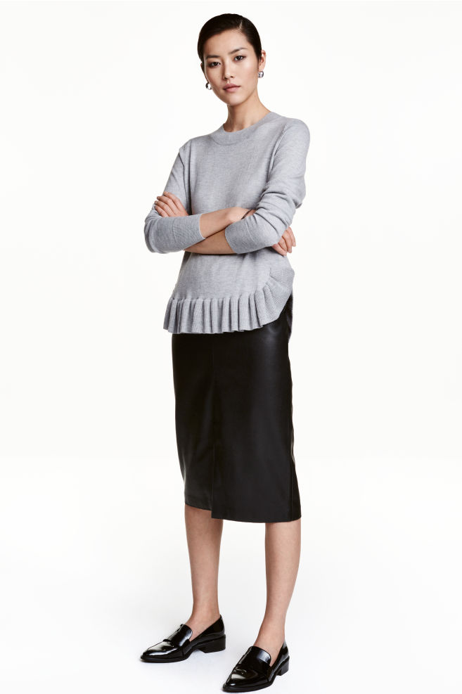 a362d8b86b Imitation leather pencil skirt - Black - Ladies   H&M ...