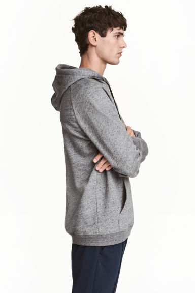 Hooded top - Dark grey marl - Men | H&M