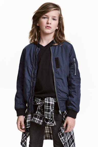 Bomber jacket - Dark blue -  | H&M CN