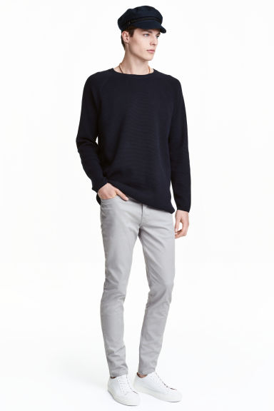 Twill trousers Slim fit - Grey - Men | H&M