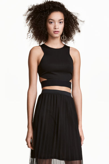 Cut-out top - Black - Ladies | H&M