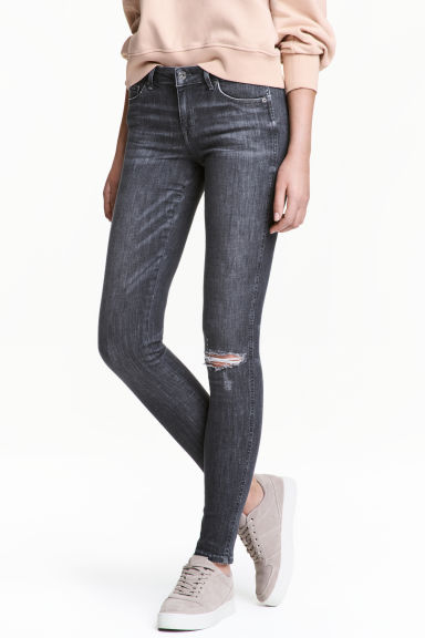 Super Skinny Low Jeans - Grey denim -  | H&M