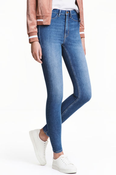 Super Skinny High Jeans - Light denim blue -  | H&M