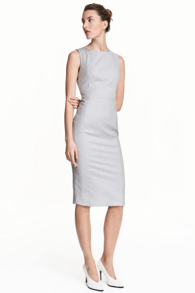 Sleeveless dress - Grey/Patterned -  | H&M