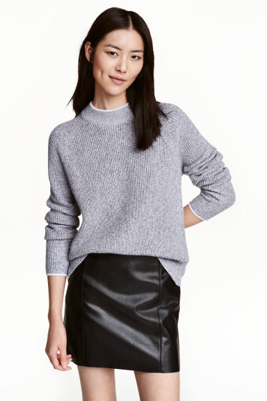 Knitted jumper - Grey marl -  | H&M GB