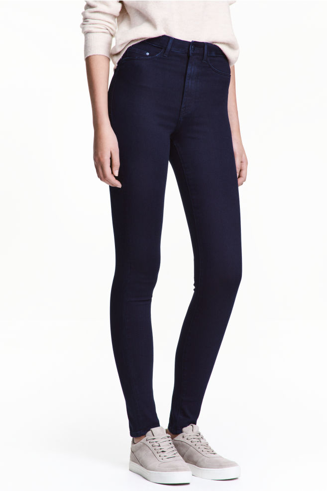 72e94bde03a18 Super Skinny High Jeggings - Blue-black - | H&M ...