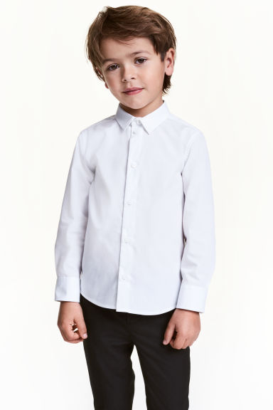 Easy-iron shirt - White - Kids | H&M CN