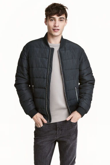 Padded jacket - Black -  | H&M