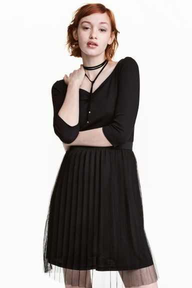 Jersey top - Black -  | H&M CN