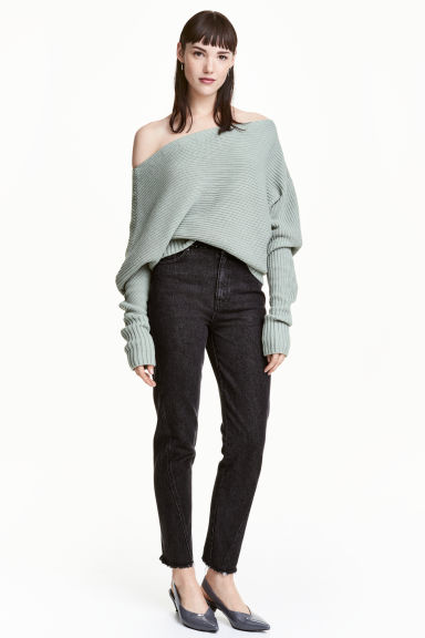High waist Jeans - Denim noir -  | H&M FR
