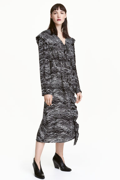 Patterned dress - Zebra print - Ladies | H&M CN