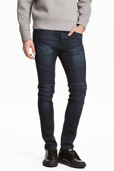 Biker jeans - Dark denim blue - Men | H&M