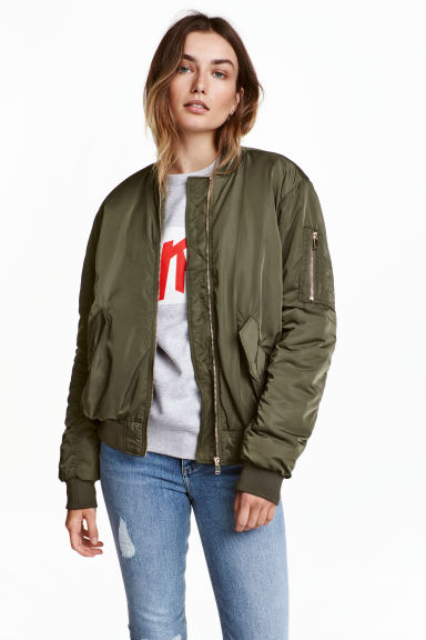 Bomber jacket - Khaki green - Ladies | H&M