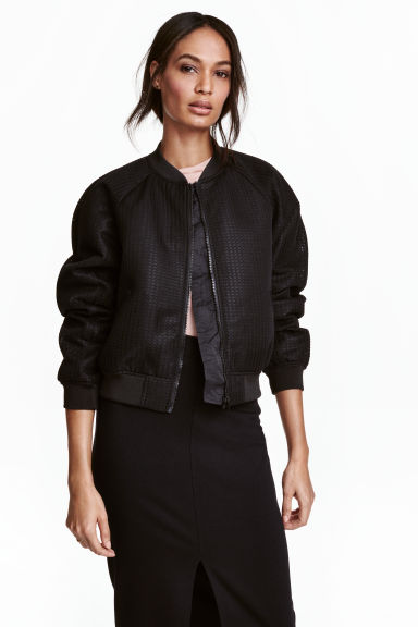 Bomber jacket - Black -  | H&M