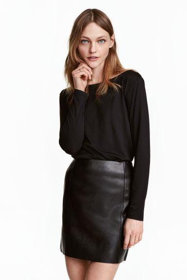 Boat-neck top - Black - Ladies | H&M CA