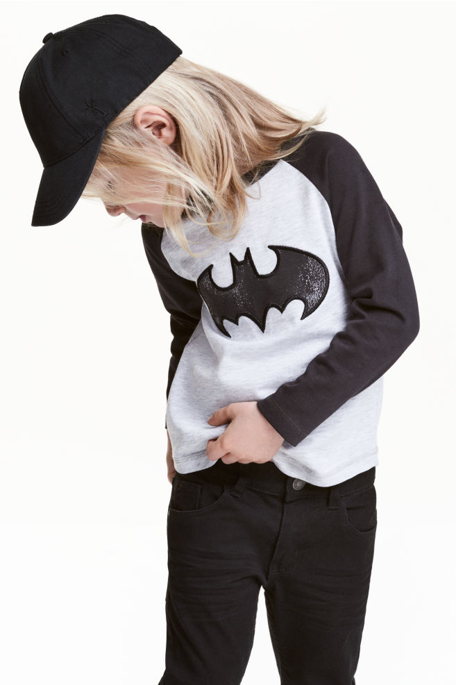 0df93b3583 Hosszú ujjú póló - Fekete/Batman - GYEREK   H&M ...