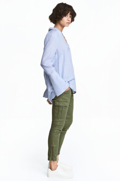 Cargo trousers - Khaki green - Ladies | H&M CN