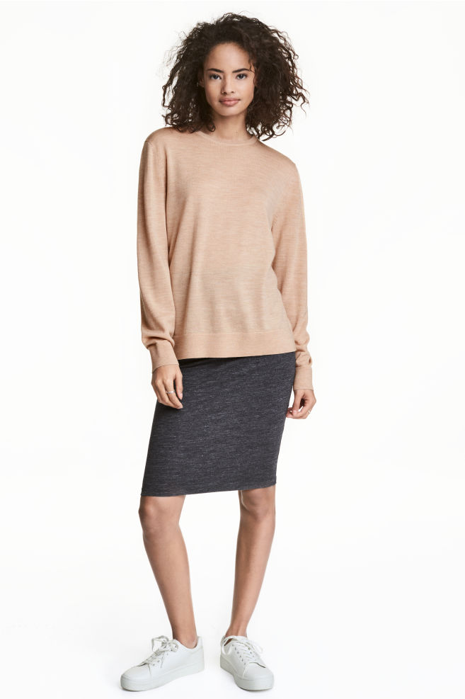 e27e385d4c00 Pencil skirt - Dark grey marl - Ladies | H&M ...