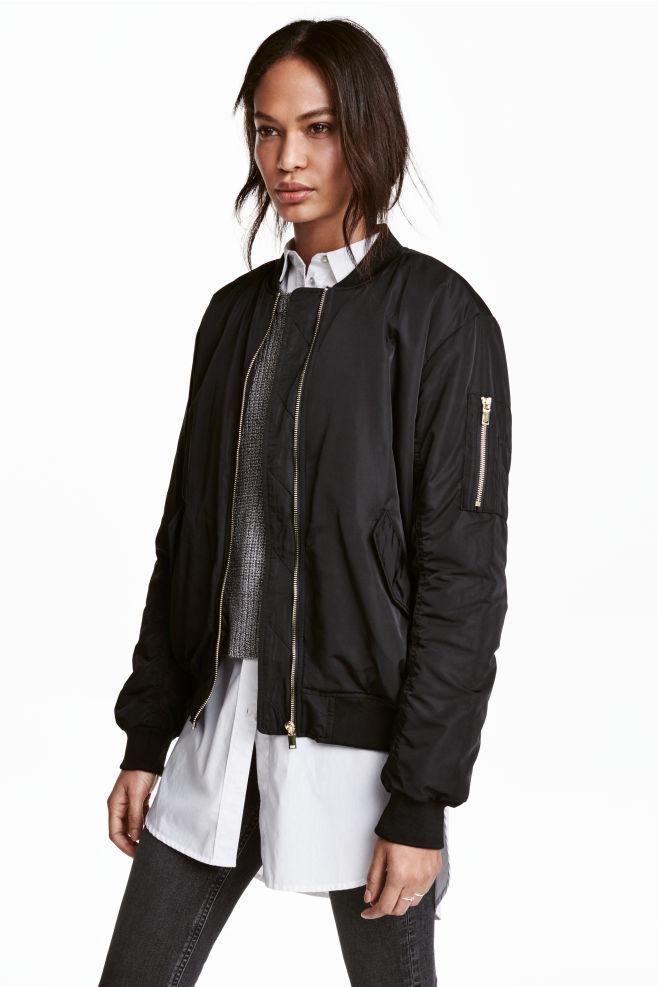 d492aec8 Oversized bomber jacket - Black - Ladies | H&M ...