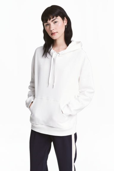 Hooded top - White - Ladies | H&M CN