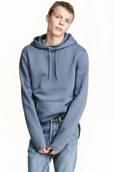 Hooded top - Pigeon blue - Men | H&M