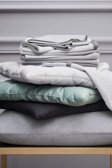 Slub-weave tea towel - Grey - Home All | H&M CN