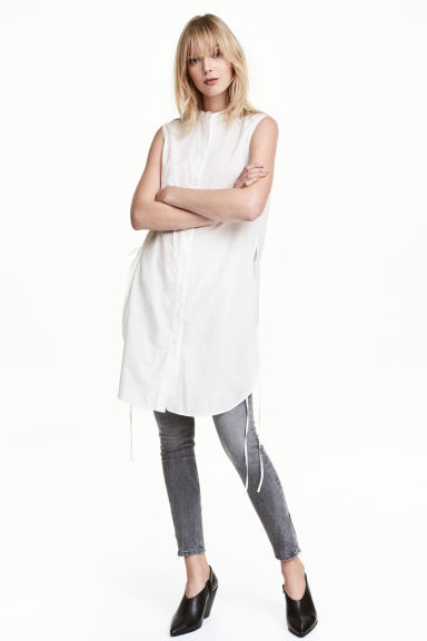 Cotton tunic - White - Ladies | H&M