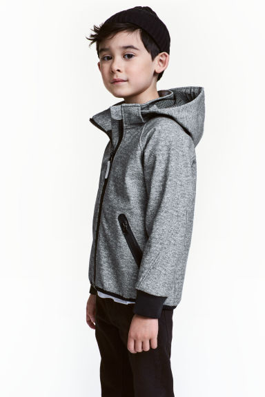 Softshell jacket - Dark grey marl - Kids | H&M CN