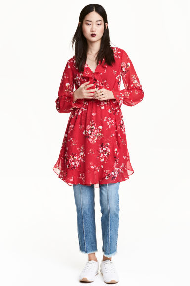 Wrap dress - Red/Floral - Ladies | H&M