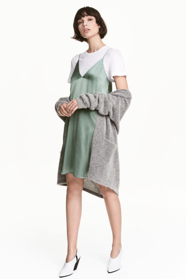 Slip dress - Green -  | H&M CN