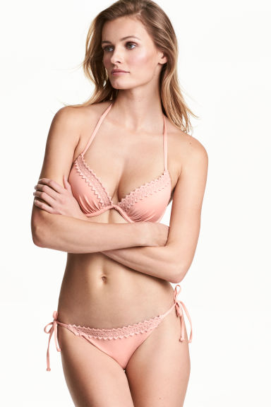 Tie tanga bikini bottoms - Old rose -  | H&M