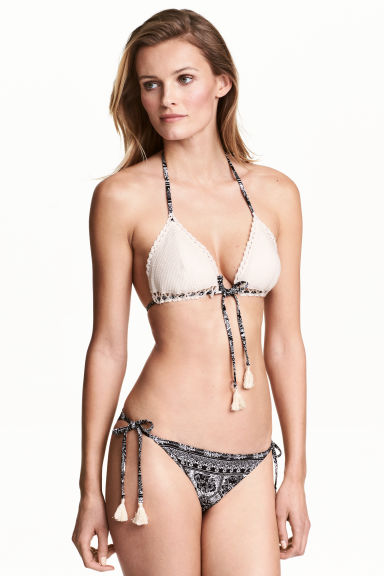 Bikini bottoms - Black/White/Patterned - Ladies | H&M