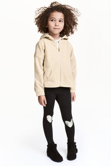 Printed leggings - Black/Heart - Kids | H&M
