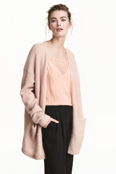 Mohair-blend cardigan - Powder - Ladies | H&M GB