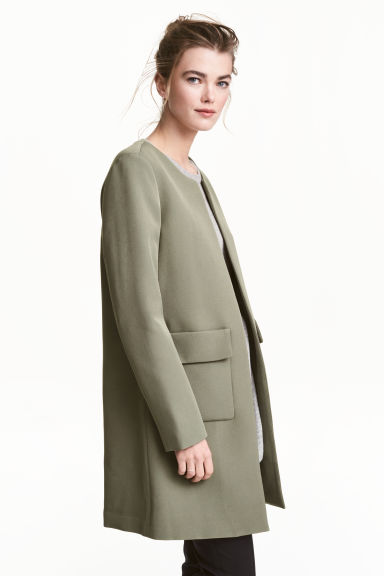 Short coat - Khaki green - Ladies | H&M GB