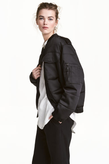 Bomber jacket - Black - Ladies | H&M