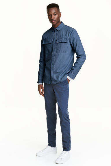 Chinos Skinny fit - Navy blue - Men | H&M GB