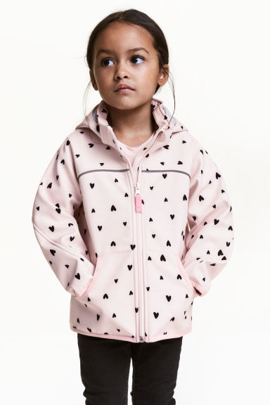 Softshell jacket - Light pink/Heart - Kids | H&M GB