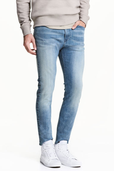 Skinny Regular Jeans - 蓝色水洗 - Men | H&M CN