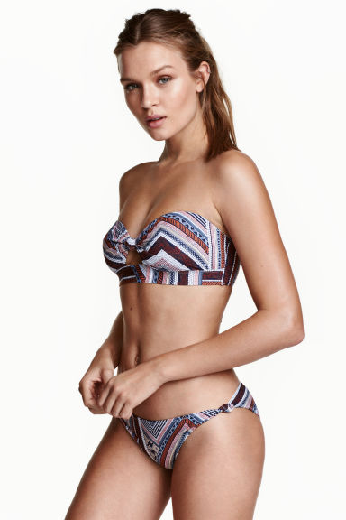 Bikini bottoms - Dark blue/Patterned - Ladies | H&M