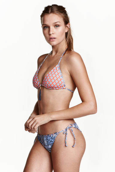 Reversible bikini bottoms - Blue/Patterned - Ladies | H&M