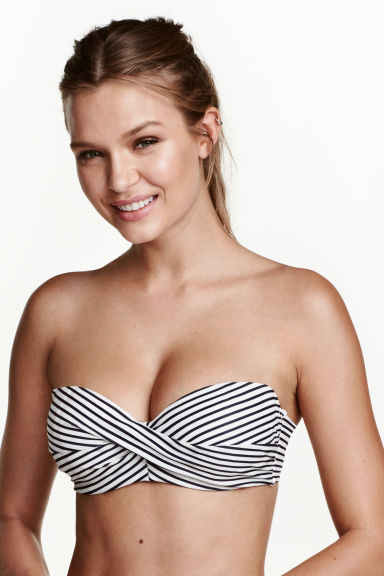Bikini top - White/Striped - Ladies | H&M