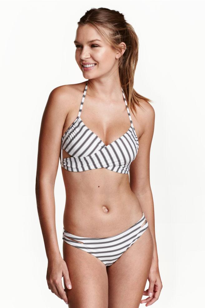 1a1dd90b5fd Cheeky bikini bottoms - Black/White/Striped - Ladies   H&M ...