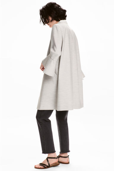 Short coat - Light grey marl - Ladies | H&M CN