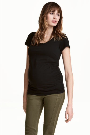 MAMA Jersey top - Black -  | H&M