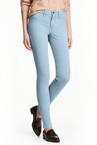 Skinny Regular Ankle Jeans - 浅牛仔蓝 - 女 | H&M CN