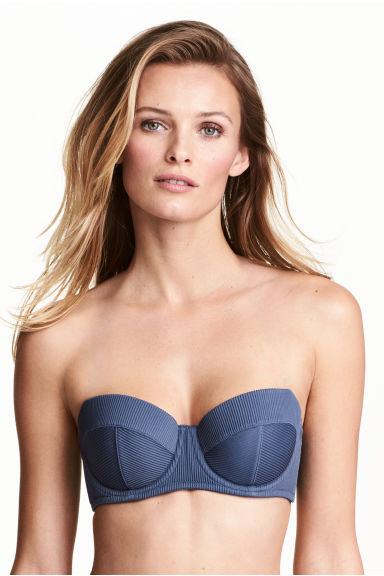 Balconette bikini top - Dark blue - Ladies | H&M